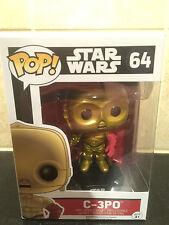 "C-3PO ( 4"" ) POP! VINYL BOBBLE-HEAD ( 2015 ) STAR WARS FIGURE #64 DISNEY / FUNKO"