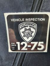 Vintage CHP Inspection Sticker Dec 1975
