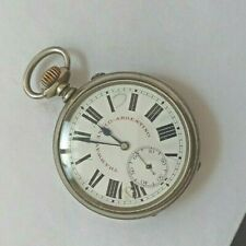 ANTIQUE LONGINES RAILROAD 55MMS SWISS POCKET WATCH NICKEL CASE CIRCA 1910