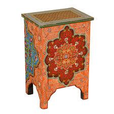 Orientalische Handbemalte Kommode Indian Style Nachttisch aus Mangholz Sheela