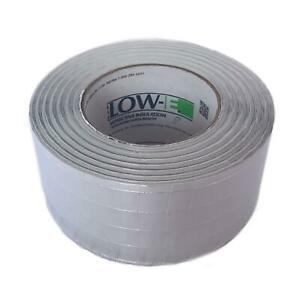 Low-E Reflective Foil Insulation Seam Tape, High Bond, Fire Rated, Scrimmed