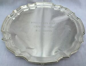 372 grams SOLID STERLING SILVER SALVER / TRAY 4 FEET 8 INCH DIAMETER JAMES DIXON