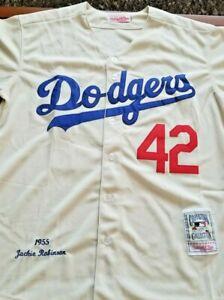 1955 Jackie Robinson LA Dodgers(Cream)