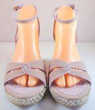 Franco Sarto Ankle Strap Wedge Womens Size 10 M Light Purple Snake Print Shoes