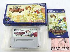 Complete Fire Emblem Thracia 776 Super Famicom Japanese Import CIB US Seller C