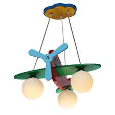 Kid's Bedroom Red Airplane Ceiling Light Pendant Lamp Chandelier Fixture Lights