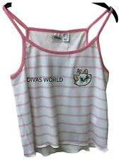 Disney Aristocats Marie Cami Top Ladies Girls Pink T-shirt Sleeveless Primark