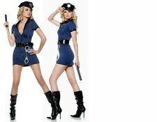 WOMENS LADIES SEXY DELUXE POLICE COSTUME HEN DOO FANCY DRESS PARTY OUTFIT