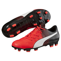 Puma Kids Evopower 4.3 Tricks FG Cleated Soccer Shoe Red 5 #NGR22-M368