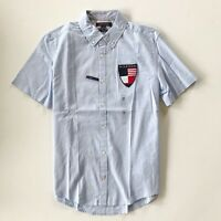 NWT Tommy Hilfiger Men's Slim Fit Short Sleeve Oxford TH FLEX Stretch Shirt S M