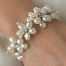 Pearl Silver Plated Bracelets Party Jewelry