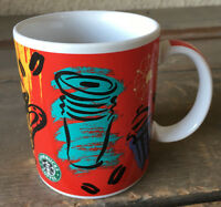 "Starbucks Coffee Mug Thailand Red Yellow Green Stylized 4"" Unique Purple Cup HTF"