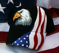 USA FLAG BALD EAGLE HAT US LIBERTY 911 PIN UP NY WASHINGTON STARS N STRIPES USA