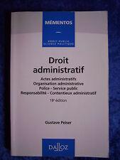 """""""Droit administratif"""" von Gustave Peiser"""