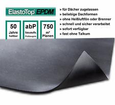 38 m² (5 x 7,62 m) EPDM Dachfolie ElastoTop® 1,2 mm hält 50 Jahre mit ZULASSUNG