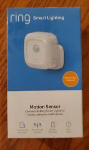 Ring Smart Lighting Battery-Powered Indoor/Outdoor Motion Sensor, White