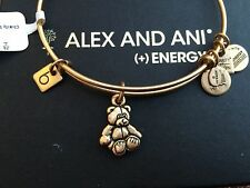 RARE NWT ALEX and ANI CHARITY By DESIGN LITTLE BROWN BEAR Charm Bangle BRACELET