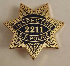 SAN FRANCISCO POLICE INSPECTOR #2211 MINI BADGE  Lapel Pin