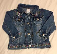 Wonder Kids Jean Jacket Denim Flower Embroidery Trucker Girls Toddler Size 24M