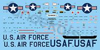 Fundekals 1/72 scale Convair F-102A Delta Dagger Airframe Stencils - FUN72001