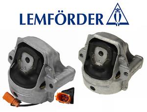 OEM Engine Motor Mount Hydraulic Set Lt & Rt 2pcs Lemforder Audi A4 A5 Quattro