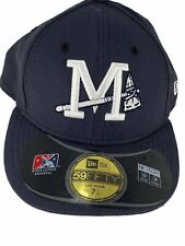 MISSISSIPPI BRAVES NEW ERA 59FIFTY ON FIELD LOW CROWN NAVY FITTED HAT SIZE 7 1/4