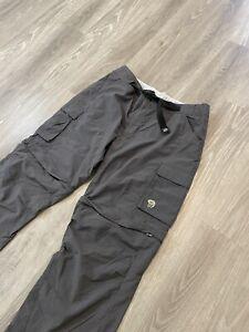 Mountain Hardwear Waterproof Rain Pants Mens XL Gray Full Zip