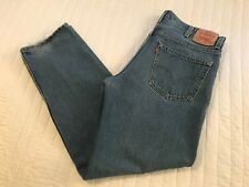MEN'S 550 Red Tab Levi's  5 PKT RELAXED FIT JEANS MEN SIZE 38 X 34 MEDIUM WASH