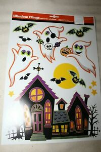 HALLOWEEN Window Clings GHOSTS BATS HAUNTED HOUSE