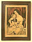 THE HOUSEHOLD PETS ~ Original Antique N Currier Lithograph 152 Nassau St NY 1847