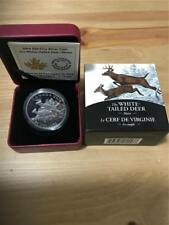 CANADA 2014 $20 1 OZ. 9999 FINE SILVER THE White-Tailed Deer: Mates PROOF