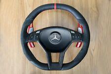 Mercedes W204 W212 C E AMG W218 W207 W172 SLK SL Steering Wheel Alcantara