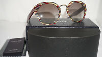 PRADA New Sunglasses Green Striped Burgundy Gray Gradient PR 04TS VAP0A7 55 140
