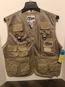 Mens Bass Outdoor America Deluxe Fly Fishing Vest Size L/XL New with Tags