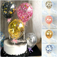 Confetti Latex Balloons 5'' Party Birthday Wedding Cake Decor Set 7 Color