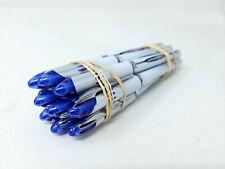 10x Uni Ball Vision Elite White Rollerball Pens Micro Point 05 Mm Blue