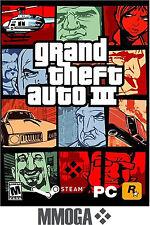 Grand Theft Auto III Key - GTA 3 PC Steam Digital Download Code NEU [DE/EU]