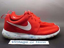 Men's Nike Roshe Run Marble Challenge Red Running Shoes 669985-600 sz 9