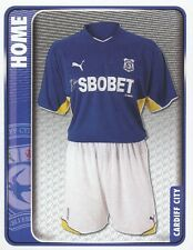 049 HOME KIT ENGLAND CARDIFF CITY.FC STICKER FL CHAMPIONSHIP 2010 PANINI