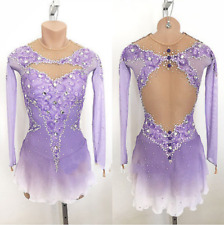 Stylish Ice Figure Skating Dress Baton Twirling Dance Dress Competition p756