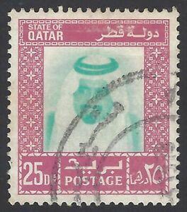 AOP Qatar 1972 25d used SG 444b £ 23
