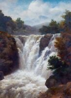 """perfect 24x36 oil painting handpainted on canvas""""Waterfall"""" @NO9370"""