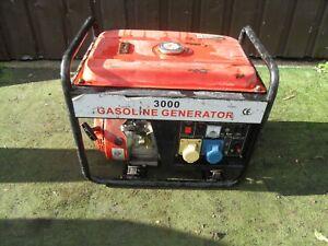 Portable 3000 Petrol Generator 2.8KVA 110V & 240V Outlets