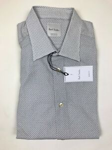 """Paul Smith - Blue/White Square Shirt - 16.5""""/42 - *NEW WITH TAGS* RRP £145"""