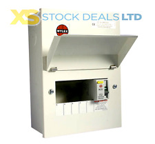 Wylex NMRS506 Amendment 3 Metal 5 way Consumer Unit With 100A 30mA RCD Isolator