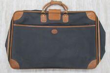 LONGCHAMP Vintage Large Leather Trim Suitcase Luggage Black Brown 470b5d26d7933