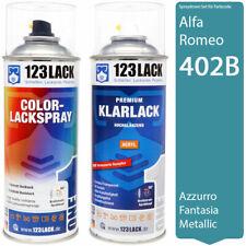 Autolack Lackspray Set Alfa Romeo 402B AZZURRO FANTASIA Metallic + Klarlack