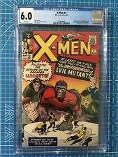 Xmen #4 CGC 6.0 1st scarlet witch quicksilver Never Pressed/Cleaned WHITE PAGES