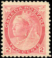 1899 Mint NG Canada F Scott #77 2c Queen Victoria Numeral Issue Stamp