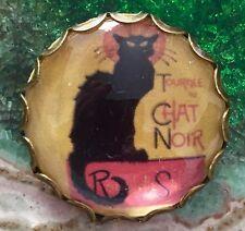 Stile Vintage le chat noir gatto da collezione Scozzese Spilla di vetro fatto a mano
